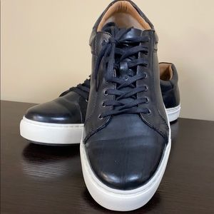 Dressy black lace up sneakers size 12